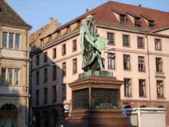 Johannes Gutenberg Denkmal in Strasbourg